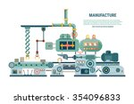 industrial abstract machine in... | Shutterstock .eps vector #354096833