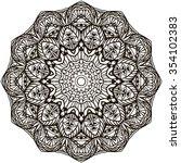 mandala coloring illustration.... | Shutterstock .eps vector #354102383