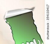 a sheet of paper ripped | Shutterstock . vector #354110417