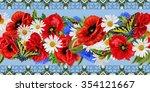 horizontal floral border ...   Shutterstock . vector #354121667