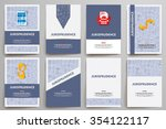 corporate identity vector... | Shutterstock .eps vector #354122117