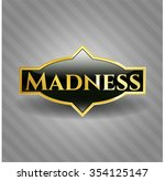 madness gold shiny emblem | Shutterstock .eps vector #354125147