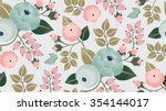 Stock vector vector illustration of a seamless floral pattern with spring flowers lovely floral background in 354144017