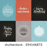 christmas and new year cards... | Shutterstock . vector #354146873