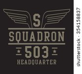 air force squadron typography ... | Shutterstock .eps vector #354158837