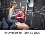 resting before hard exercises... | Shutterstock . vector #354181007