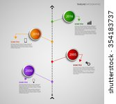 time line info graphic with... | Shutterstock .eps vector #354183737