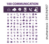 communication  connect  ... | Shutterstock .eps vector #354196907