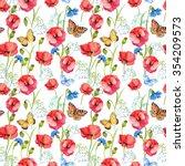 seamless pattern  wallpaper ... | Shutterstock . vector #354209573