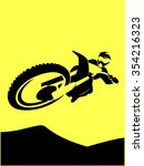 a silhouette of a motorcycle... | Shutterstock .eps vector #354216323