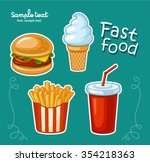 junk food icon design. flat... | Shutterstock .eps vector #354218363