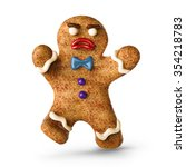 angry attacking gingerbread man ... | Shutterstock . vector #354218783