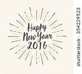 handmade style greeting card  ... | Shutterstock .eps vector #354229523