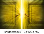 beam of the success back of the ... | Shutterstock . vector #354235757