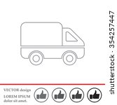 delivery truck line icon....