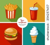 junk food icon design.... | Shutterstock .eps vector #354257657