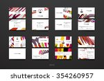 set of brochure  poster... | Shutterstock .eps vector #354260957