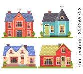 set of four vector illustration ...   Shutterstock .eps vector #354269753