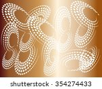 set of abstract halftone logo... | Shutterstock .eps vector #354274433