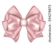 Beautiful Pink Bow On White...
