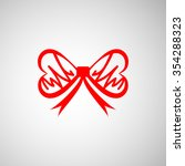 simple red bow icon | Shutterstock .eps vector #354288323