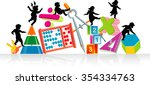 math is fun learning children... | Shutterstock .eps vector #354334763