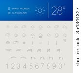 thin weather icon set widget...