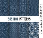 set of vector seamless pattern...   Shutterstock .eps vector #354347513