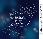 vector decorative christmas eve ... | Shutterstock .eps vector #354356213