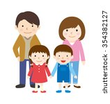 parent and child | Shutterstock .eps vector #354382127