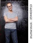 good looking men  studio shot ... | Shutterstock . vector #354403913