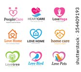 love logo collection heart logo ... | Shutterstock .eps vector #354409193