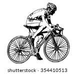race bicyclist illustration 2   ...   Shutterstock .eps vector #354410513