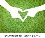 white silhouette of humans... | Shutterstock . vector #354414743