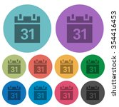 color calendar flat icon set on ...