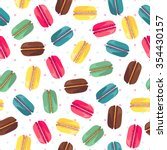 seamless pattern with french... | Shutterstock .eps vector #354430157
