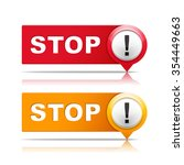 red and orange stop signs with...