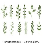hand drawn floral elements in... | Shutterstock .eps vector #354461597