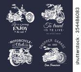vector motorcycles... | Shutterstock .eps vector #354486083