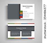 brochures book or flier with... | Shutterstock .eps vector #354486377