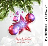 christmas decoration  shiny... | Shutterstock .eps vector #354501797