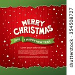 merry christmas and happy new... | Shutterstock .eps vector #354508727