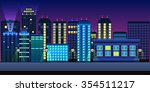 city background | Shutterstock .eps vector #354511217