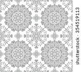 abstract seamless pattern.... | Shutterstock .eps vector #354519113