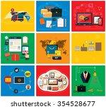 business online  social media ... | Shutterstock . vector #354528677
