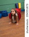 girl playing in the kindergarten | Shutterstock . vector #354551873