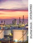 oil refinery at twilight  ...   Shutterstock . vector #354564983