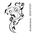 floral and swirl ornament.... | Shutterstock .eps vector #354573707