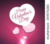 happy valentine's day greeting... | Shutterstock . vector #354576383