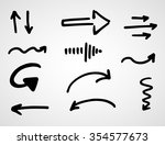 hand drawn arrows  vector set  | Shutterstock .eps vector #354577673